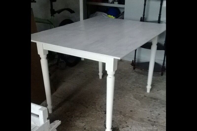 White Upcycled Dining Table Can Deliver in Armoy  : 86 from www.gumtree.com size 800 x 533 jpeg 36kB