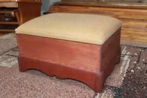 Antique Footstool/ sewing box