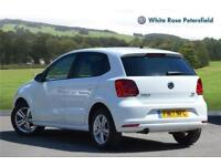 2017 Volkswagen Polo Match Edition 1.2 TSI 90PS 5-speed Manual 5 Door Petrol whi