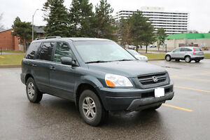 2004 Honda Pilot NOT ACCIDENT, 4WD,LEATHER NO RUST,CLEAN CAR .FU