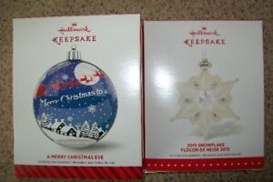 Hallmark keepsake ornaments 2014 and 2015 mint in boxes