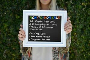Mom to Mom sale, May 14th, St George, ON