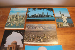 Box Lot of Vintage Postcards Including NYC w. Twin Towers London Ontario image 2