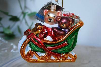 NEW ~ CHRISTOPHER RADKO * BEARS THAT CARE * CHARITY ORNAMENT ~ MADE IN POLAND