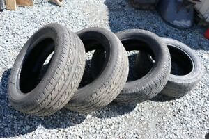 2 Dunlop and 2 Hercules Tires - P275/55R20 M+S