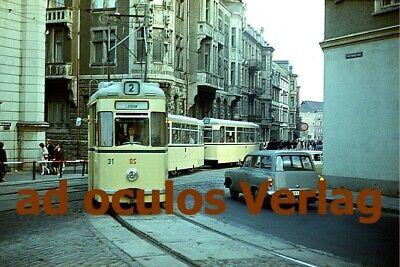 historische Bildpostkarte Schwerin Mecklenburg Straßenbahn Schwerin 1972 PE002
