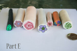 7 original unbaked polymer clay canes made by artist Kitchener / Waterloo Kitchener Area image 1