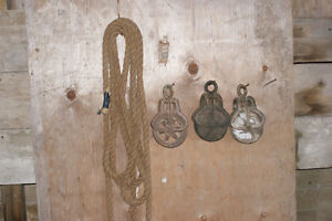 Antique Pulleys and Rope