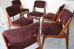 6 Danish Teak Dining Chairs