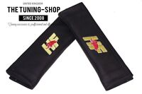 2x Seat Belt Covers Pads Black Leather ,hp, Embroidery For Lancia - the tuning shop - ebay.co.uk