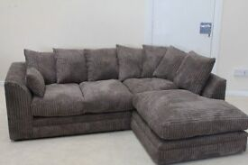** SAME/NEXT DAY DELIVERY** BRAND NEW KINGSTON JUMNO CORD CORNER SOFA ON SPECIAL OFFER