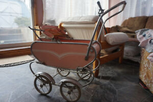Antique doll carriage