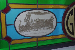 Framed Stained Glass Great Western & Canadian Railway Art Piece London Ontario image 2