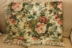 Beautiful plaid and floral throws London Ontario image 2