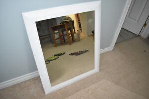"""mirror with white frame 34"""" x28"""" UXBRIDGE AREA"""
