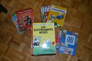 super grosse collection bd schtroumpfs