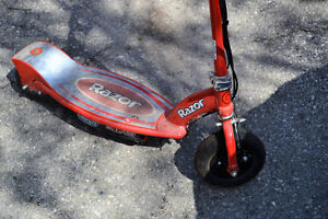 Two Razor E175 electric scooters