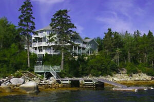 Oceanfront home for rent in beautiful Prospect Bay