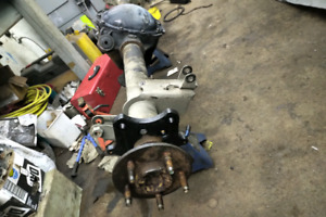 Mustang 8.8 posi rear end 4:10 gears with disc brake brackets