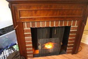 CORNER ELECTRIC FIREPLACE FOR SALE - 200$ OBO