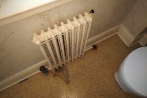 Vintage Cast Iron Hot Water Self Standing Radiators - Small/Thin