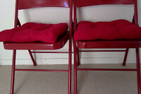 2 RED seat cushions