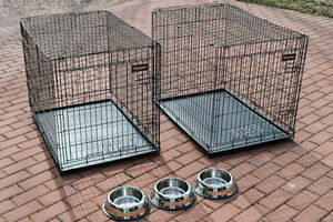 2 large wire kennel crates