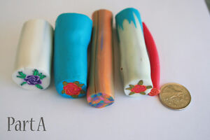 5 original unbaked polymer clay canes made by artist Kitchener / Waterloo Kitchener Area image 2