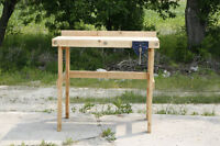 Homemade woodworkers Bench with Vise
