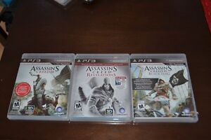 Assassin's Creed III, Revelations, IV Black flags pour PS3