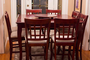 BEAUTIFUL 9pc. Dining / Pub Table Set - ORIGINALLY $2,800
