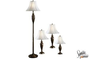 Carson Brass 4PC Lamp Set