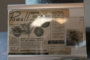 Paper Ad on Powell Motorcycle