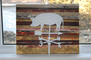 Pig Weathervane Original Painting SALE