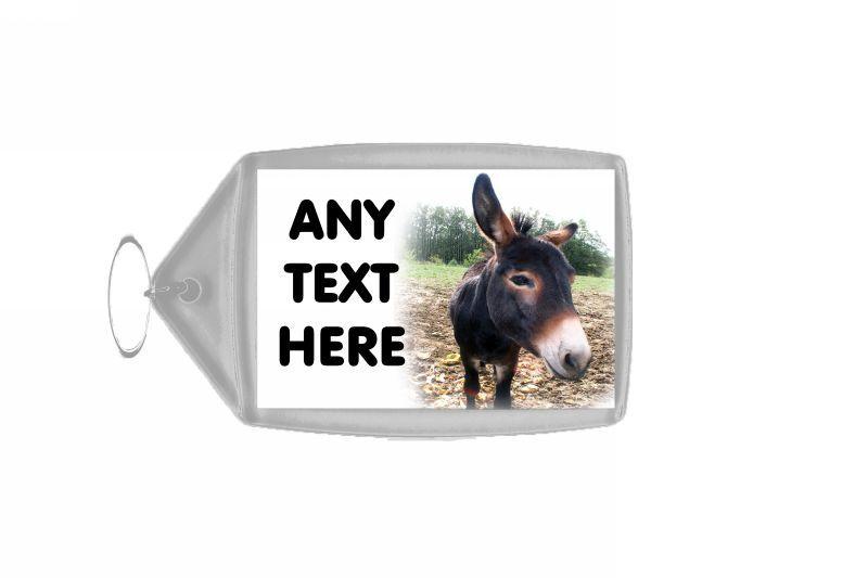 Donkey Personalised Keyring