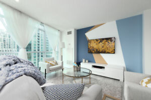 2BR + 2BA Downtown Toronto Fully Furnished Condo for Lease