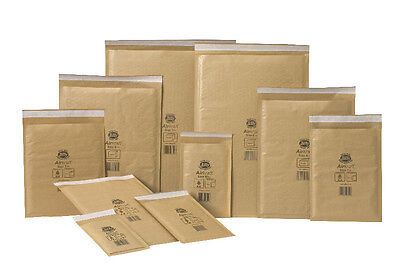 50x Jiffy Envelopes Size J000 90x145mm Bubble Padded Postal Bags Mailers