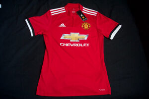 MANCHESTER UNITED F.C. 2017/2018 ADIDAS HOME JERSEY SIZE SMALL