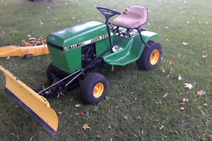 John Deere 111 Lawn Tractor, Cutting Deck and Snow Blade
