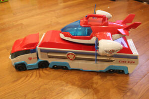Paw Patrol pkg Patroller, Air Patroller and 4 Pups with Vehicles