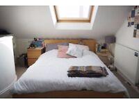 Huge attic bedroom with private en suite in friendly North London flatshare