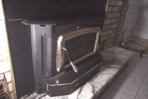 Fireplace Insert - Regency Classic, Mod I3100, Steel, Gold Door