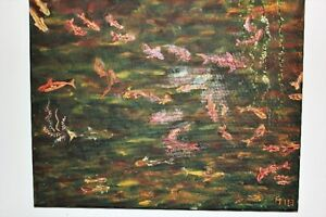 """Peinture Painting Abstract Abstraite Tableau Toile 20"""" x 16"""" OOA West Island Greater Montréal image 3"""