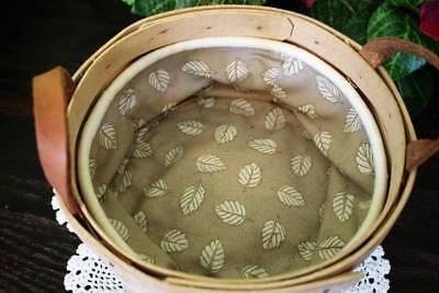 Longaberger Small Round Berry Basket 6.5 inch 1999 Leaf Insert