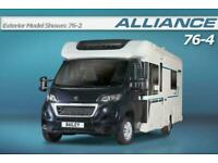 Bailey Alliance 76-4, 2019, 4 Berth, New, Motorhome