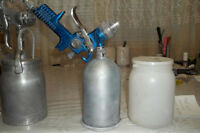 3 PROFESSIONAL   PAINT  GUNS WITH EXTRA NOZOLS