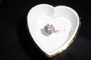 Diamond Cluster Ring for Sale - A PERFECT GIFT !