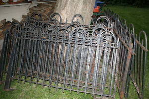 Vintage solid iron fence