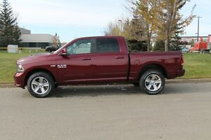 2017 RAM 1500 SPORT C/C LOADED IN GORGEOUS RED PEARL!!  17R13804