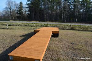 8 x 18' cedar wooden floating dock with a 4 x 16' ramp Kingston Kingston Area image 6